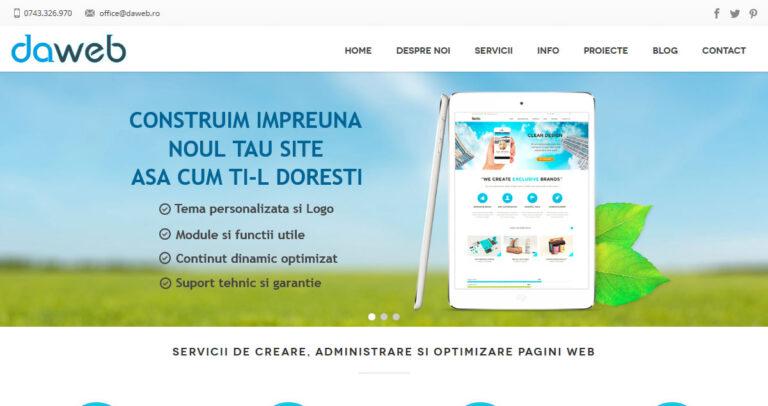 Design-si-Administrare-Website-Daweb